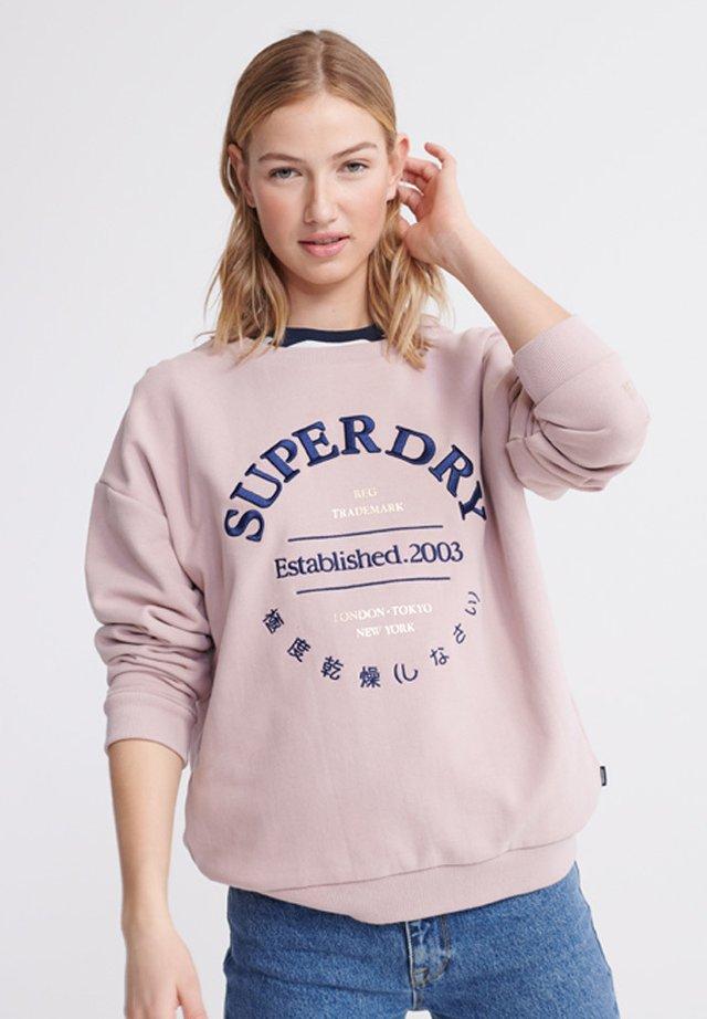 APPLIQUE SERIF  - Sweater - purple