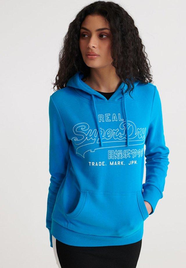 SUPERDRY VINTAGE LOGO OUTLINE POP LITE HOODIE - Bluza z kapturem - light cobalt