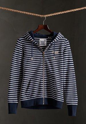 SUPERDRY ORANGE LABEL CLASSIC LOOPBACK  - veste en sweat zippée - nu navy stripe