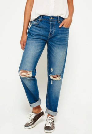 Relaxed fit jeans - authentische helle waschung