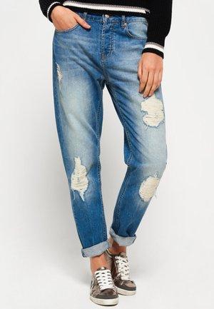 Jeans Relaxed Fit - bleu pailleté