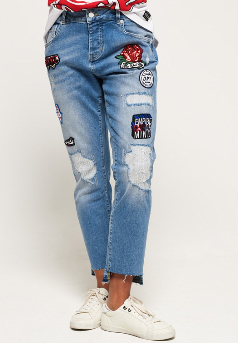 Superdry - RILEY GIRLFRIEND - Relaxed fit jeans - cruiser blue