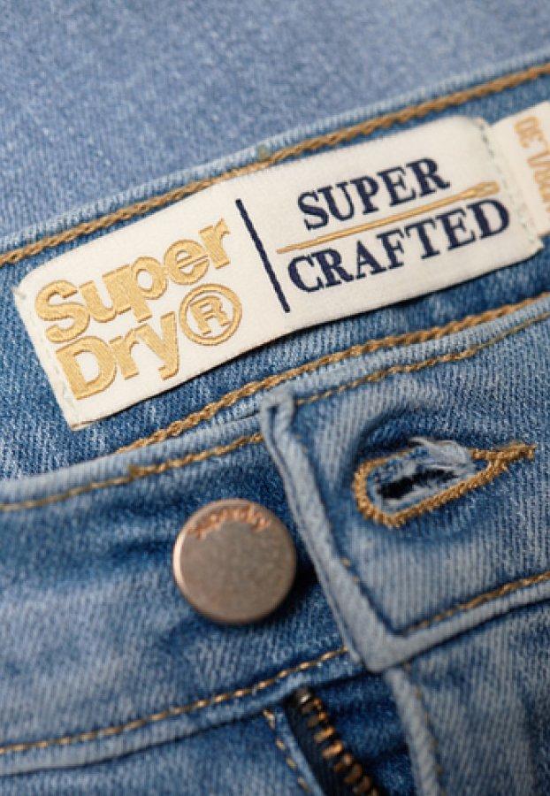 Superdry Jeansy Skinny Fit - crystal sky blue