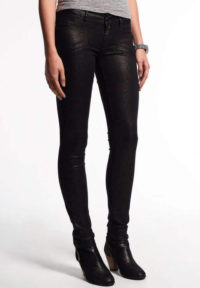 Jeans Skinny Fit - foiled silver