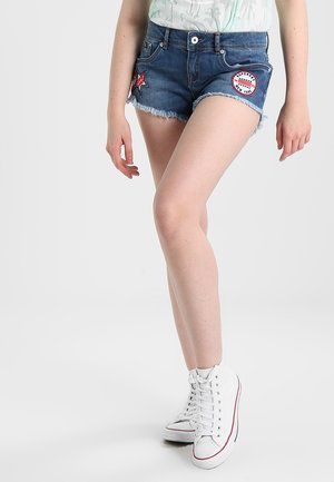 Shorts di jeans - mid indigo badged