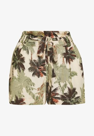 DESERT STRIPE - Shorts - brown palm