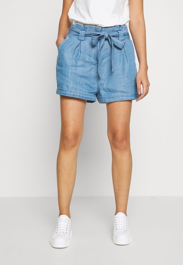 DESERT PAPER BAG - Shorts - indigo light
