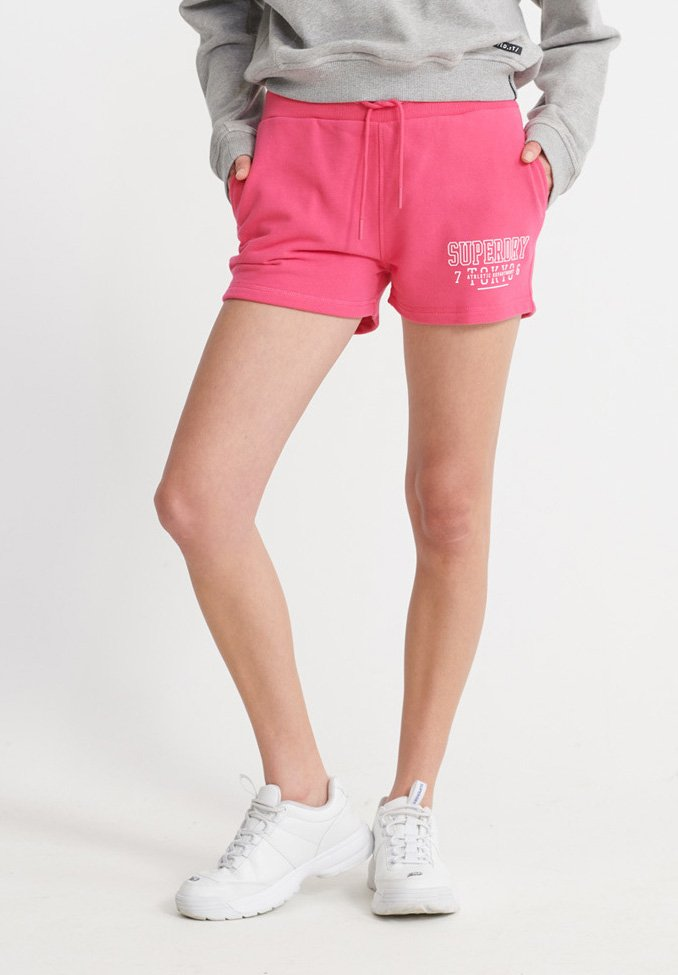 Superdry - SUPERDRY TRACK & FIELD SHORTS - Shorts - fuchsia