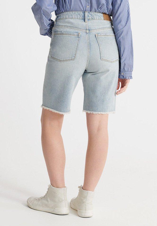 Superdry Szorty jeansowe - light indigo