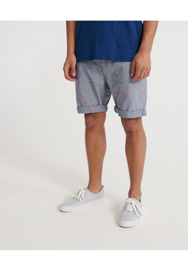 INTERNATIONAL EMBROIDERED - Shorts - blue
