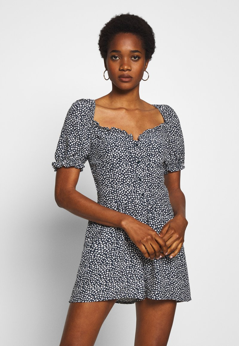 Superdry - QUINCY SUMMER PLAYSUIT - Jumpsuit - navy ditsy
