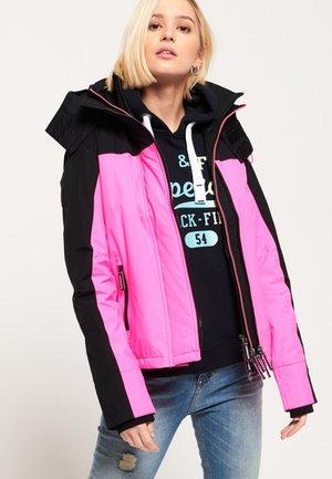 POP ARCTIC PACIFIC SD-WINDCHEATER - Ulkoilutakki - black/hyper pink/optic