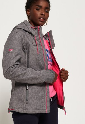 SD-WINDTREKKER  - Välikausitakki - storm gray speckled/sporty pink