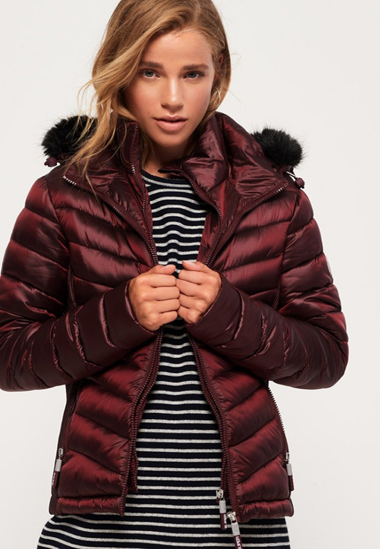 Superdry - LUXE CHEVRON FUJI  - Giacca invernale - red