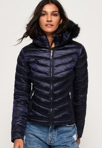 Superdry - LUXE CHEVRON FUJI  - Winterjacke - navy tansanite - 0