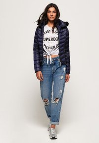 Superdry - LUXE CHEVRON FUJI  - Winterjacke - navy tansanite - 1