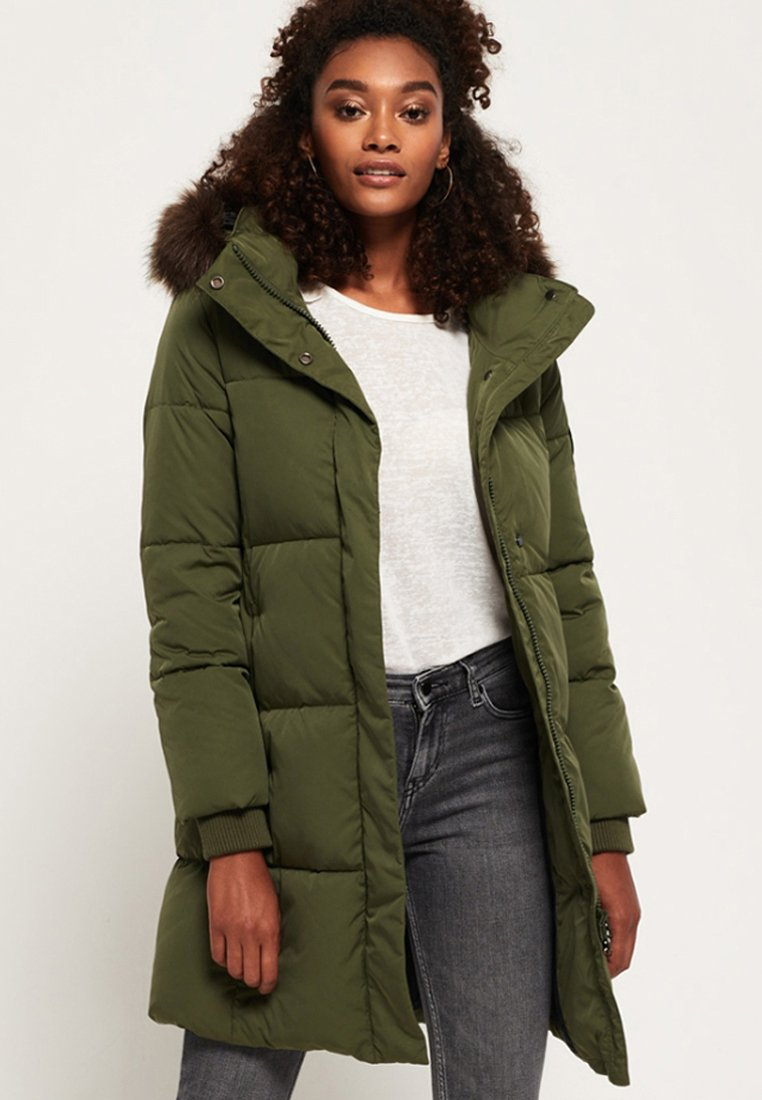 Superdry - COCOON - Wintermantel - khaki