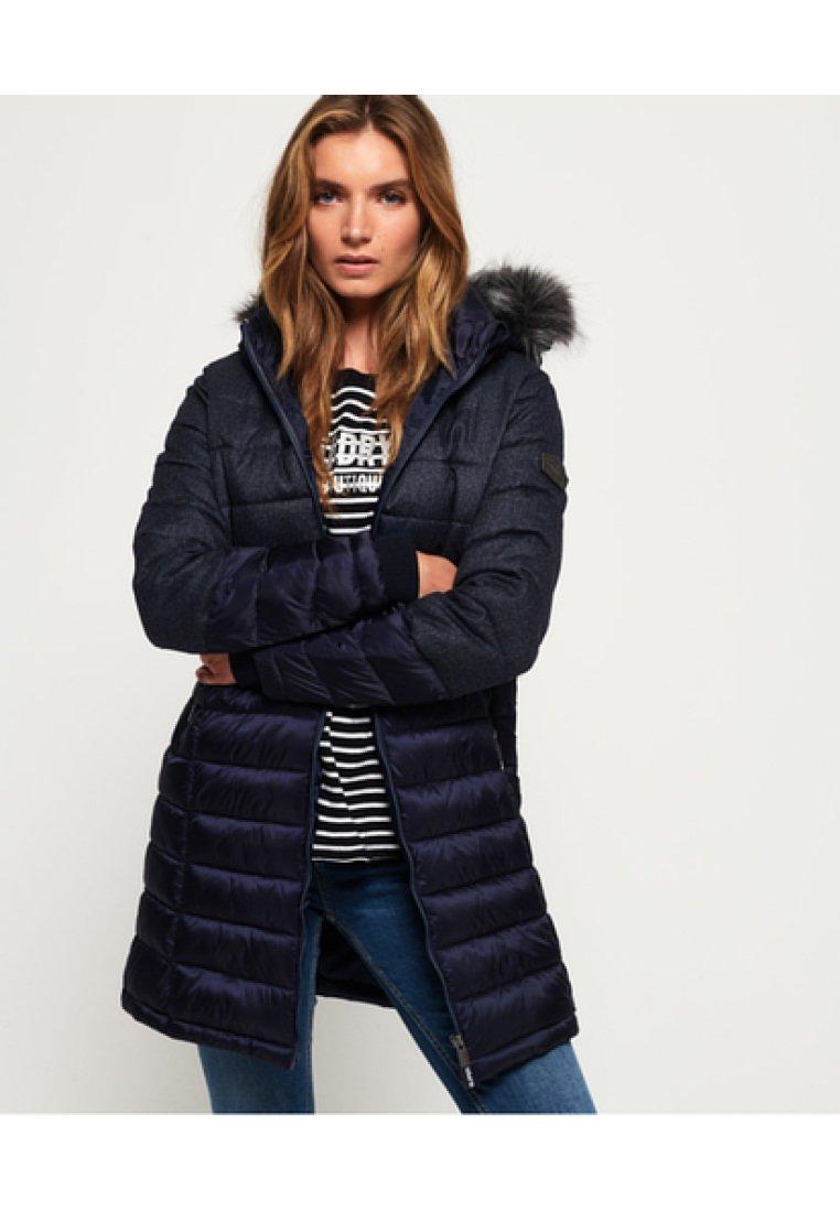 Superdry - LUXE  - Abrigo de invierno - navy blue