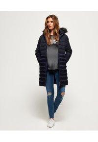 Superdry - LUXE  - Abrigo de invierno - navy blue - 1