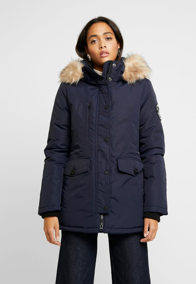 Superdry - ASHLEY EVEREST - Zimní kabát - navy