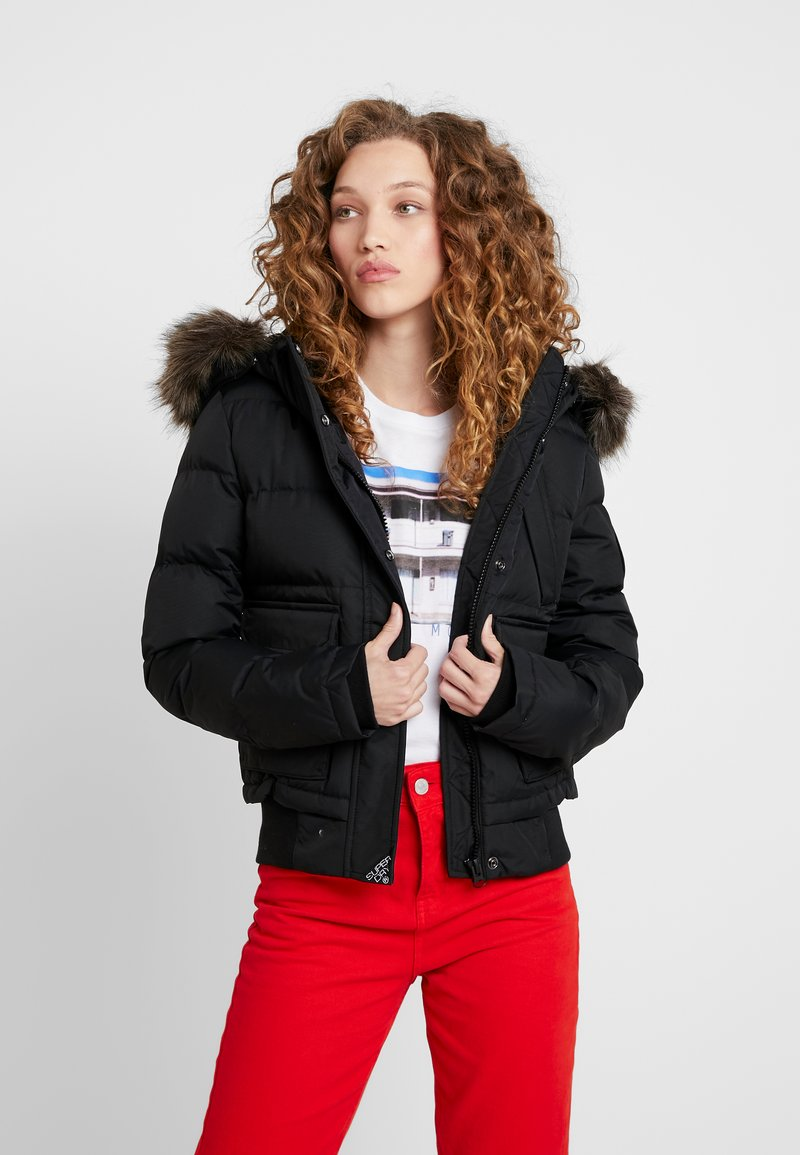 Superdry - EVEREST ELLA - Zimní bunda - black