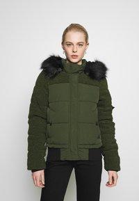 Superdry - ELLA SHERPA BOMBER - Winter jacket - army khaki - 0