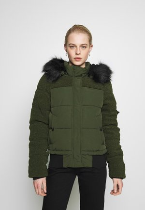 ELLA SHERPA BOMBER - Winter jacket - army khaki
