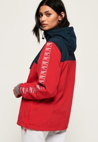 Superdry - Cortaviento - deep berry - 0