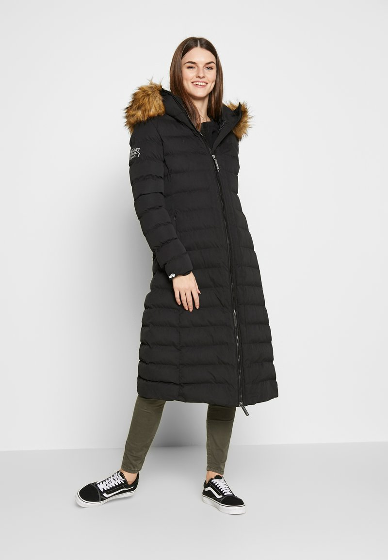 Superdry - NEW ARCTIC LONG PUFFER - Winter coat - black