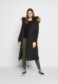 Superdry - NEW ARCTIC LONG PUFFER - Winter coat - black - 1