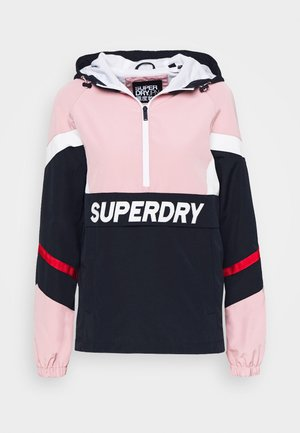 COLOUR BLOCK OVERHEAD - Summer jacket - soft pink