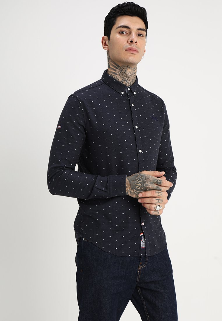 Superdry - PREMIUM BUTTON DOWN - Shirt - basket navy