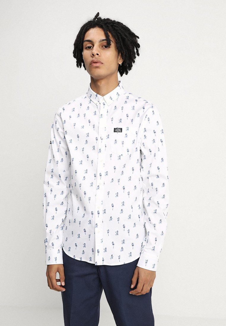 Superdry - SHORDITCH DOWN REGULAR FIT - Shirt - white
