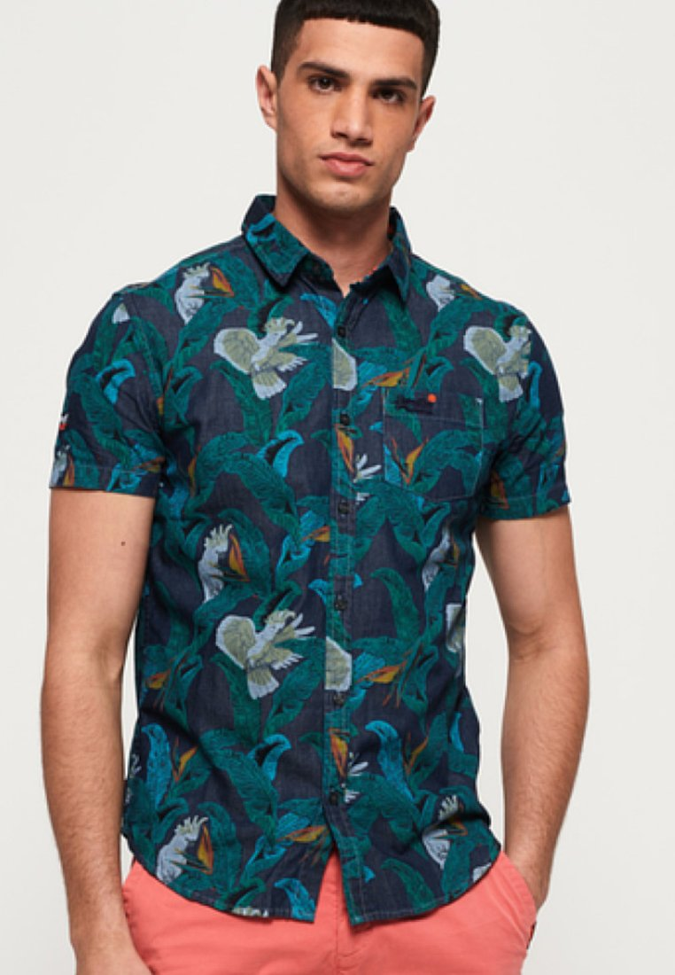 Indigo LoomChemise Superdry Miami Bird Tropical Blue zqUMpVSG