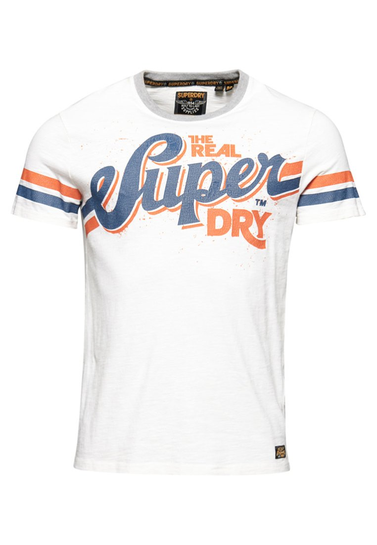 Superdry - CLASSICA HERITAGE  - T-shirts print - white