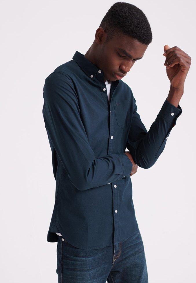 Superdry - MIT LANGEN ÄRMELN  - Shirt - navy blue