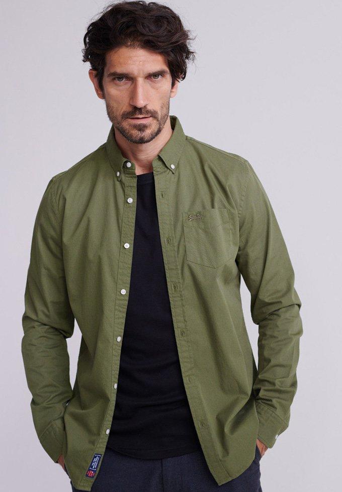 Superdry - MIT LANGEN ÄRMELN  - Shirt - army green