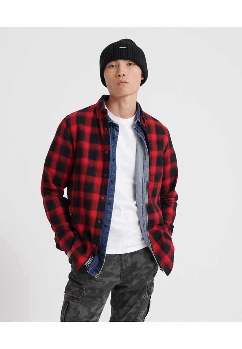 Superdry - LONG SLEEVE - Camicia - red
