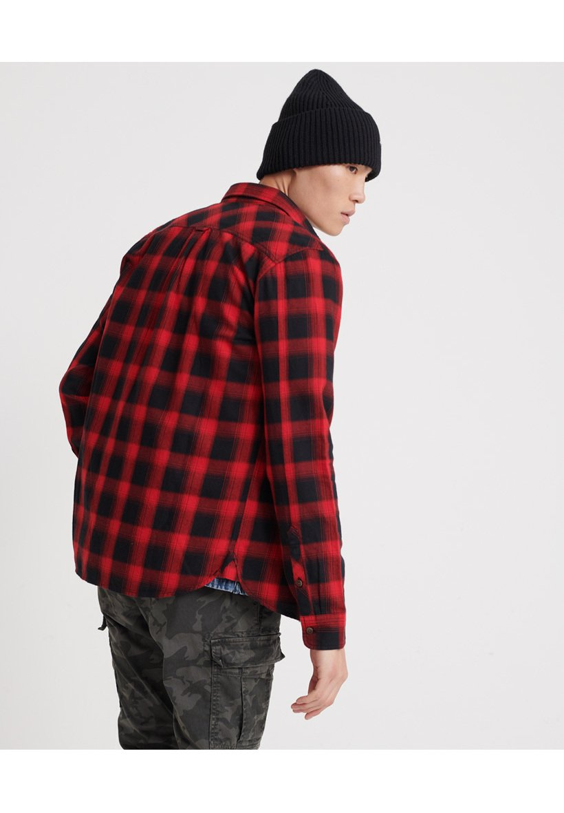 Superdry Long Sleeve - Chemise Red