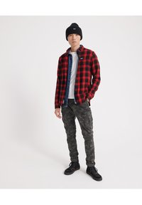 Superdry - LONG SLEEVE - Camicia - red - 1