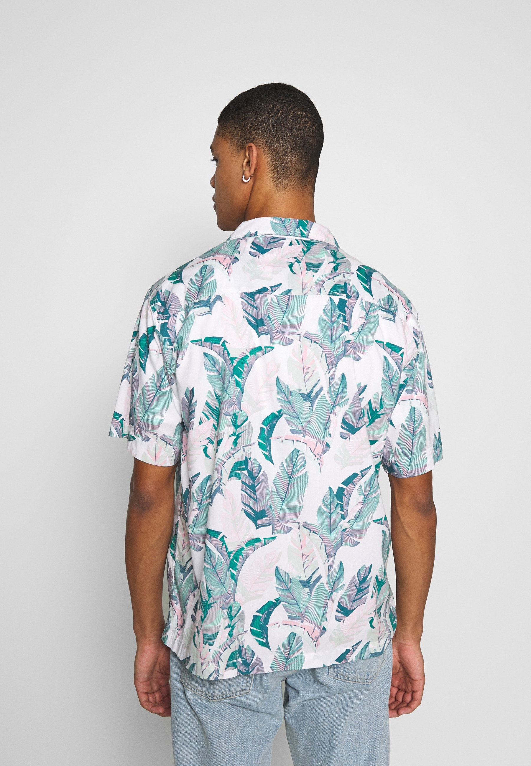 Superdry Hawaiian Box - Skjorter Feather Leaf White