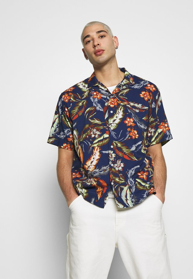 HAWAIIAN BOX - Shirt - navy