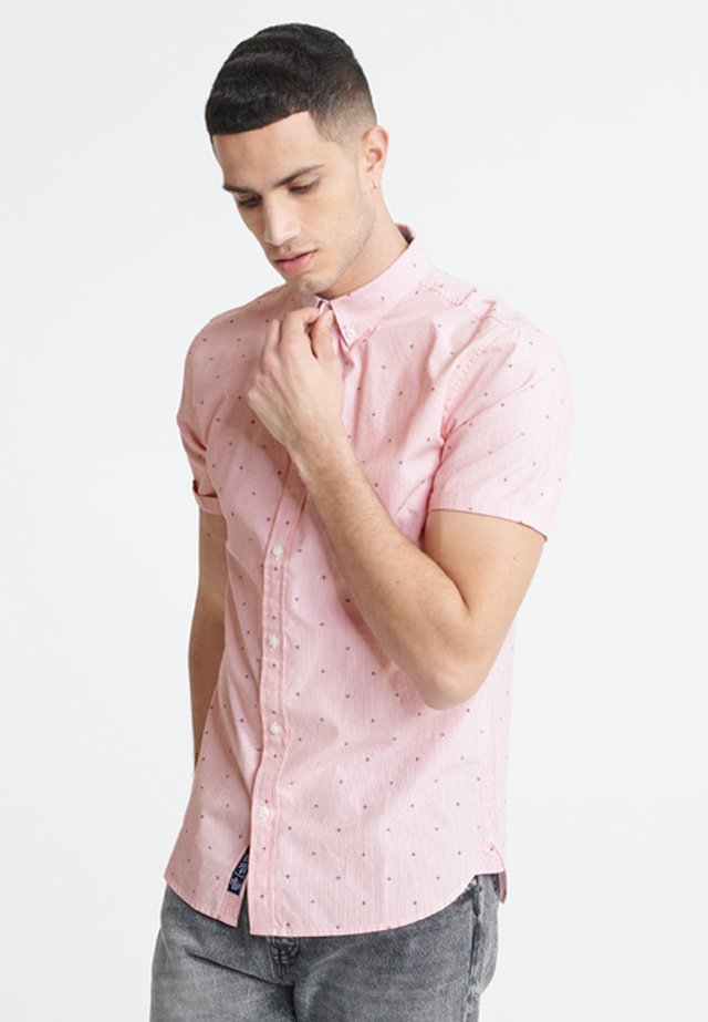 SUPERDRY CLASSIC SHOREDITCH PRINT SHORT SLEEVED SHIRT - Hemd - red