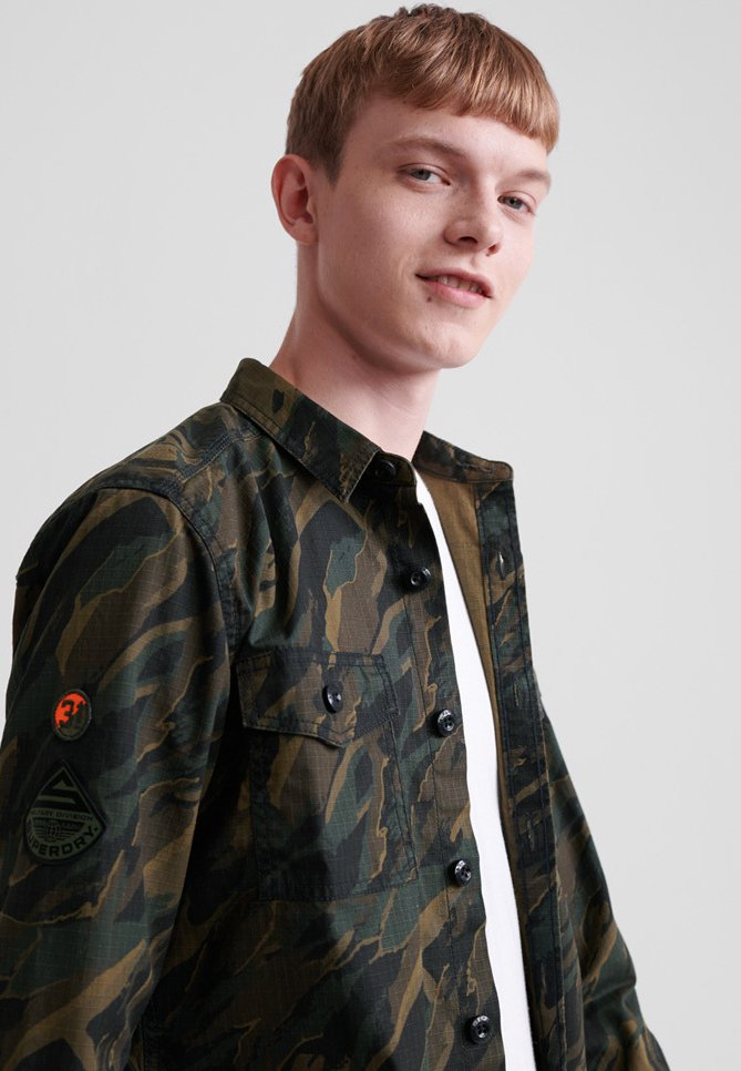 Superdry MILITARY STORM - Chemise - green