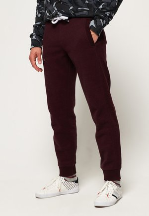 LABEL CUFFED JOGGER - Trainingsbroek - bordeaux
