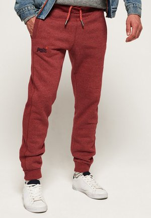 LABEL CUFFED JOGGER - Pantalones deportivos - red