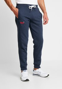 Superdry - ORANGE LABEL CLASSIC - Pantalon de survêtement - midnight blue feeder - 0
