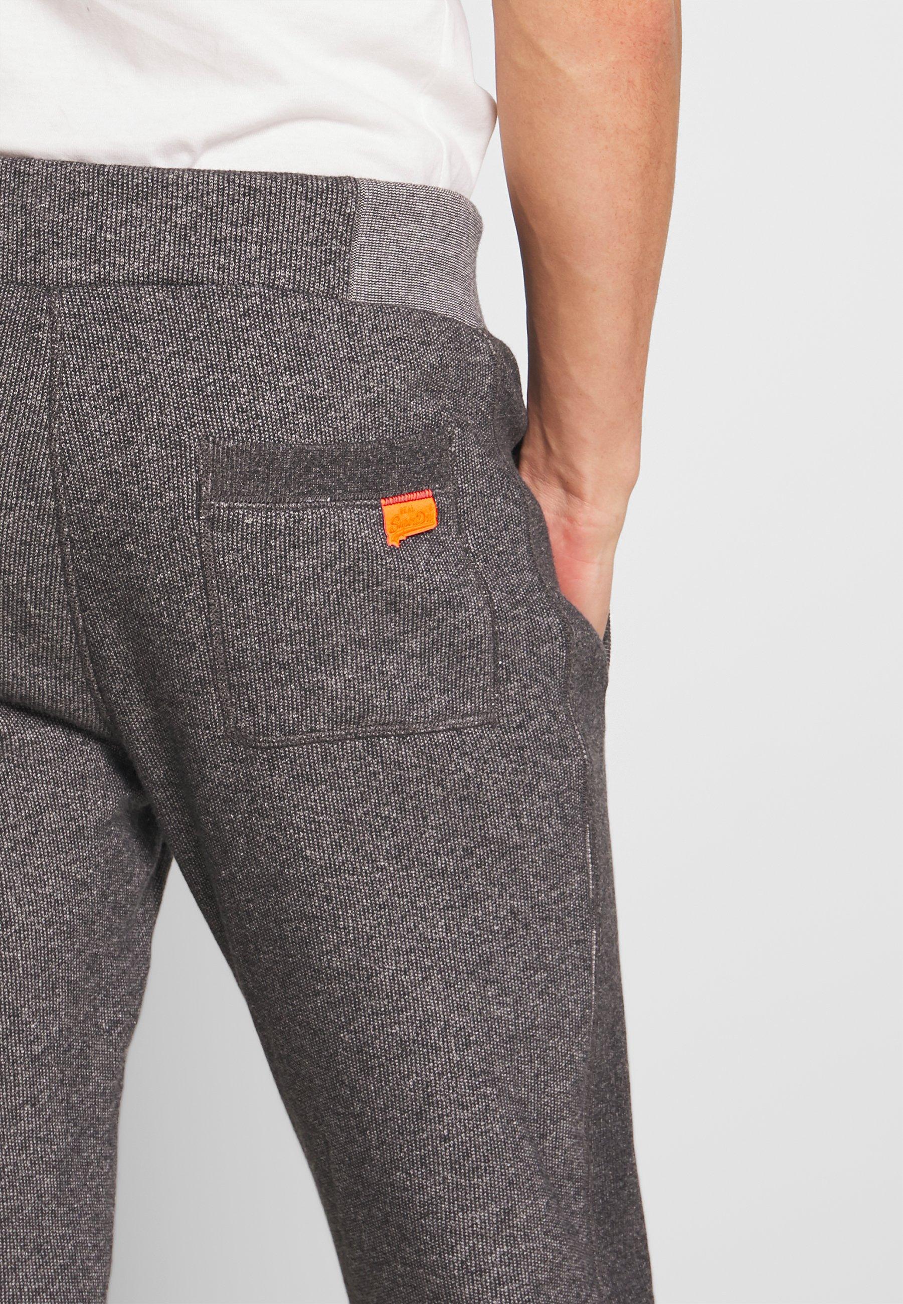 Superdry Orange Label Classic - Verryttelyhousut Mid Grey Texture