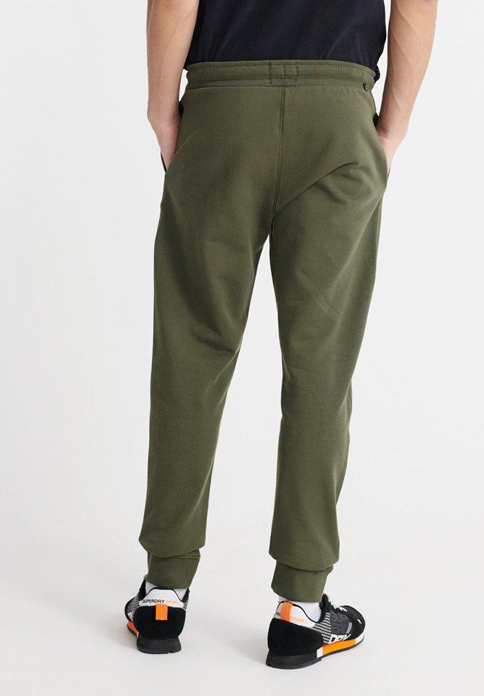 Superdry STANDARD LABEL - Spodnie treningowe - true khaki