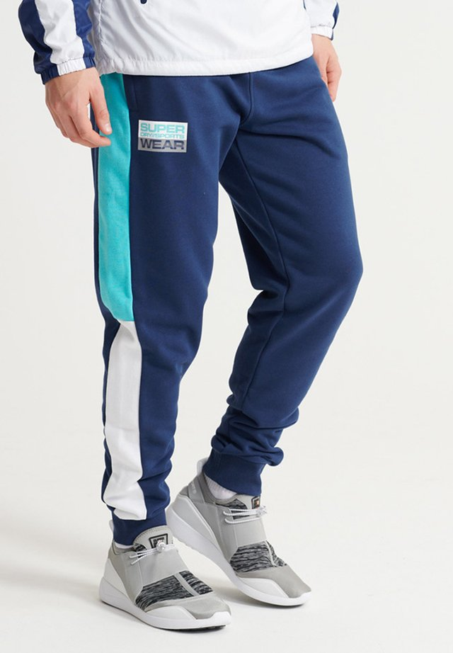 SUPERDRY STREETSPORT JOGGERS - Jogginghose - beechwater blue